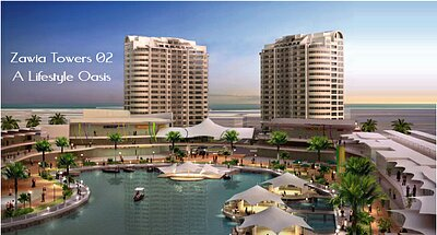 Zawia Tower 1 - 2 Bedrooms Apartment, Sea View (137 SQM)
